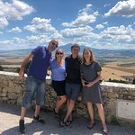 Allasandro and us in Tuscany.... Amore!