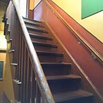 Bare Wooden Staircase