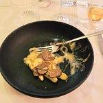 Home made gnocchi with truffles