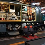 Inner workings of a 2D2 electric locomotive