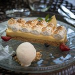 Going for a midweek treat! 'Lemon Pie' with coconut sorbet  Executive Chef George Stylianoudakis