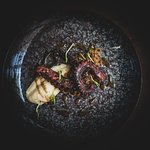 Savory 'Octapus' with caramelized Onion and Oxymelo  Executive Chef George Stylianoudakis By Ke
