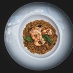 Delicious 'Kritharoto Shrimp' to start your week!  Executive Chef George Stylianoudakis By Kensh
