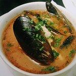 Fish soup fish pie pasta  seabream