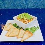 shrimp, mango and avocado ceviche heirloom tomato caprese