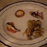 alice con arancia filetto di triglia e tonno con cipolla caramellata