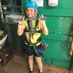 Longest wait to ride and longest tutorial of my life to zipline. 🤦♀️🤦♀️🤦♀️