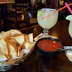chips, salsa, margaritas