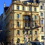 The Drei Kronen hotel seen from the Naschmarkt.
