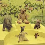 The original stuffed animals that inspired A.A. Milne's Winnie-the-Pooh stories.