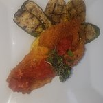 Fried Flounder over Grits with a nice Chutney