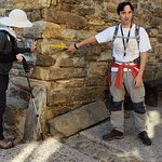 our guide shows the yellow camino arrow to look for