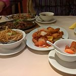 Sweet & Sour Chicken and Peppered Beef