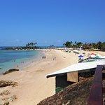 Segunda playa, aguas tibias y limpidas.