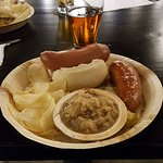 wurst and beer
