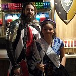 Our beautiful daughter with the Black and White Knight who picked her as the White Jousting Quee