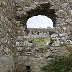 Arched window of Rock of Dunamase