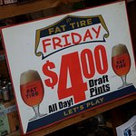 $4.00 Friday Fat Tire drafts - best to check if this is still offered