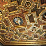 Ceiling of the bedroom of Agostini Chigi, with his family crest
