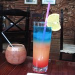 Nice coctail drinks are served in the restaurante San Jose