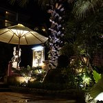 Baan Rim Pa is well decorated in Thai tropical garden.