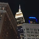 A night-time Empire State Building - New York (18/Oct/18).