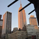 Sunlight catching Empire State Building - NY on 11th April 2015