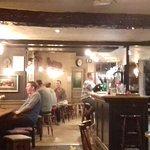 Narrow bar cosy pub