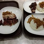 Roast meats with rice