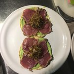 Seared tuna tostadas