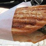 A falafel sandwich.