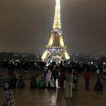 Illuminated tower in the light