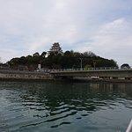 船から見える唐津城