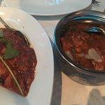Railway Chicken (left) and Naga Chilli Chicken