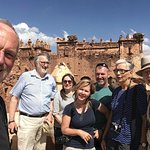 Our first group of guests from Sweden and Canada at Telouet Kasbah.