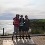 My Wonderful guide, Katie and a fellow traveller at the end of our 101 kms walk!