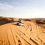 Dune bashing on top desert hiills