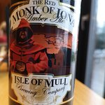 Red Monk of Iona Amber Ale - NOT Brewed on Mull(!) - by 'The Isle of Mull' Brewing Co.(Front Lab
