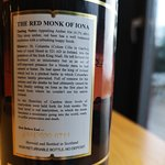 Red Monk of Iona Amber Ale - NOT Brewed on Mull(!) - by 'The Isle of Mull' Brewing Co.(Rear Labe