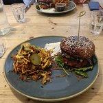 Vegan Burger (top of bun is Portobello mushroom)