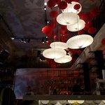 В кафе напротив бара)