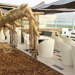 La terraza esta preparada para el relax