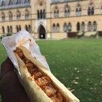 Chicken tikka marsala baguette.