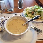 Clam Chowder and side salad