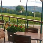 View of Seneca Lake from outdoor patio