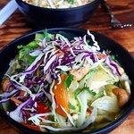 Veggie & Cashew Yellow Curry and Tofu & Veggie Peanut Satay