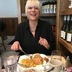 Celeste, applefritwich and steel cut oats