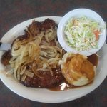 Liver & Onions, mashed and slaw!