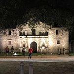 The Alamo at night!