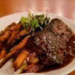 NY Strip Steak W/Carrots and Mashed Potatoes